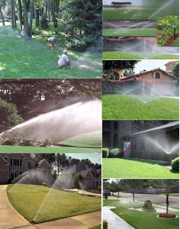 Lawn sprinkler irrigation systems
